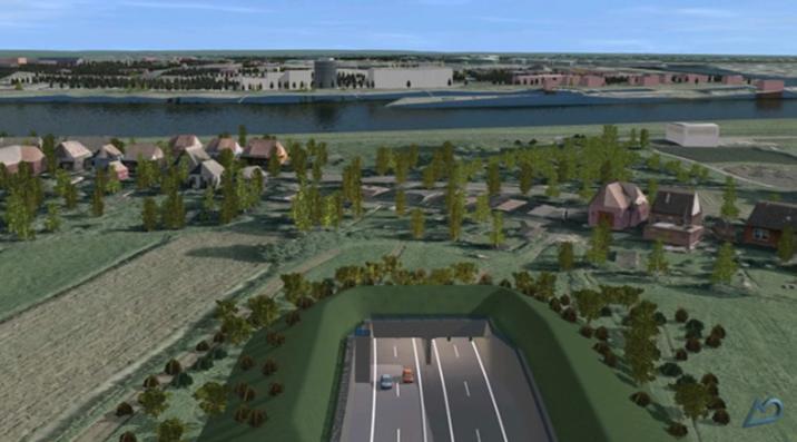 Visualisierung Autobahneckverbindung