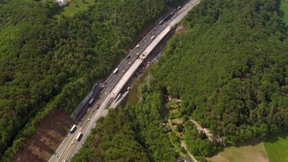 Luftaufnahme der Talbrücke Volmarstein