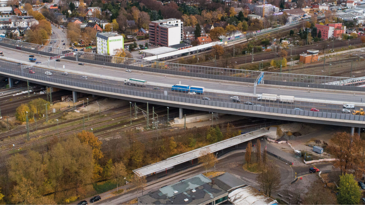 A 7 Langenfelder Brücke Hamburg