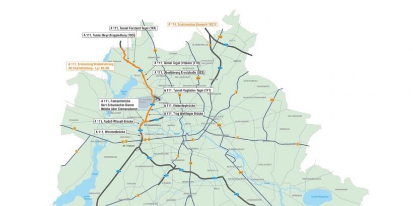 Die DEGES-Projekte an der Berliner Standtautobahn im Überblick