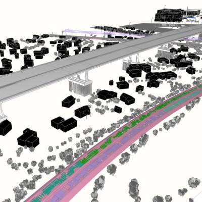 Visualisierung Grundsanierung A 111 in Berlin