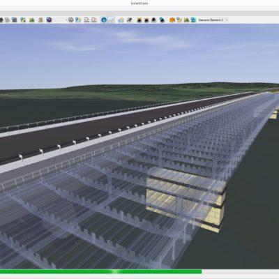 Computermodell Petersdorfer Brücke