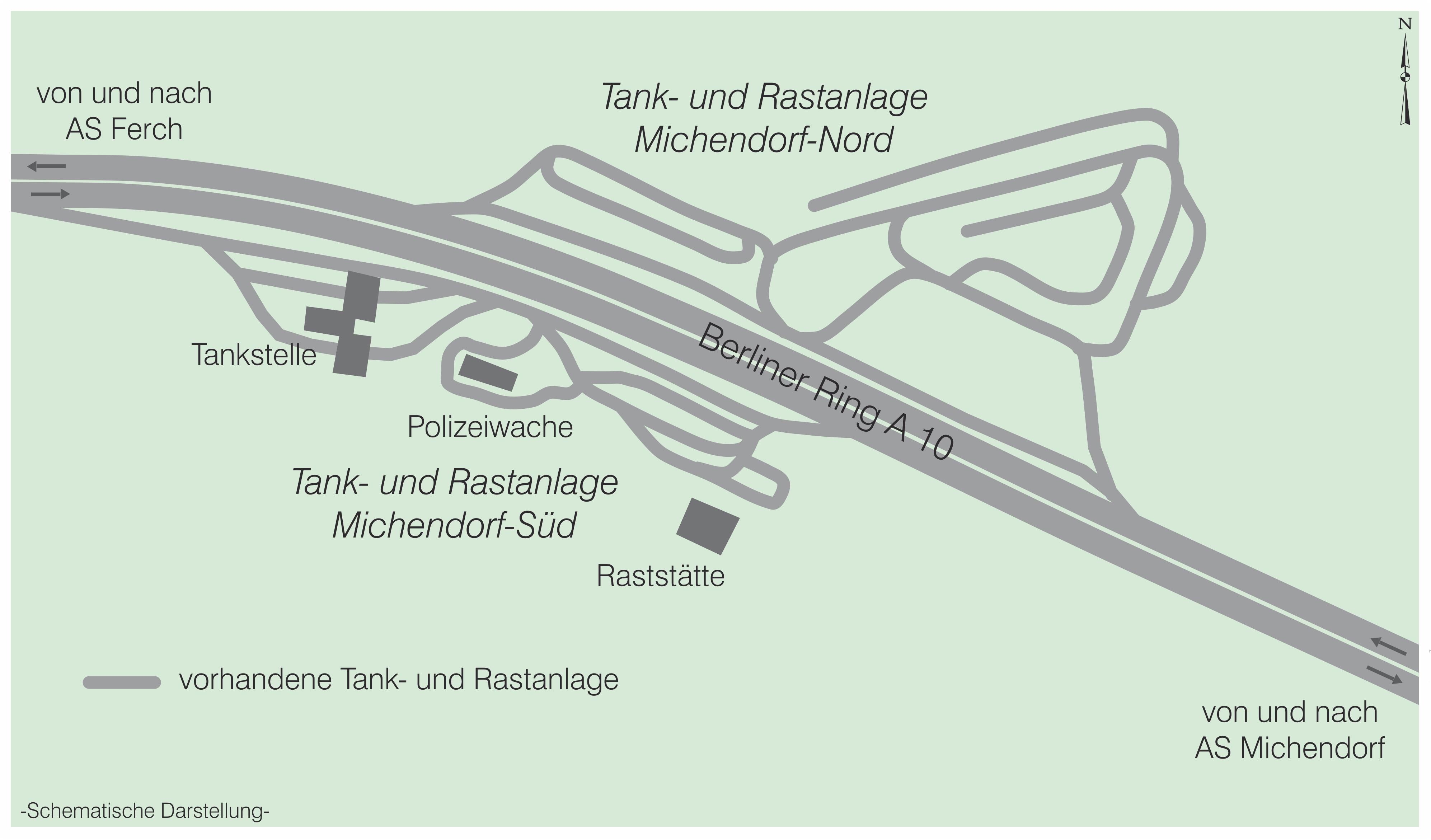 Tank und Rastanlage Michendort A 10 alt