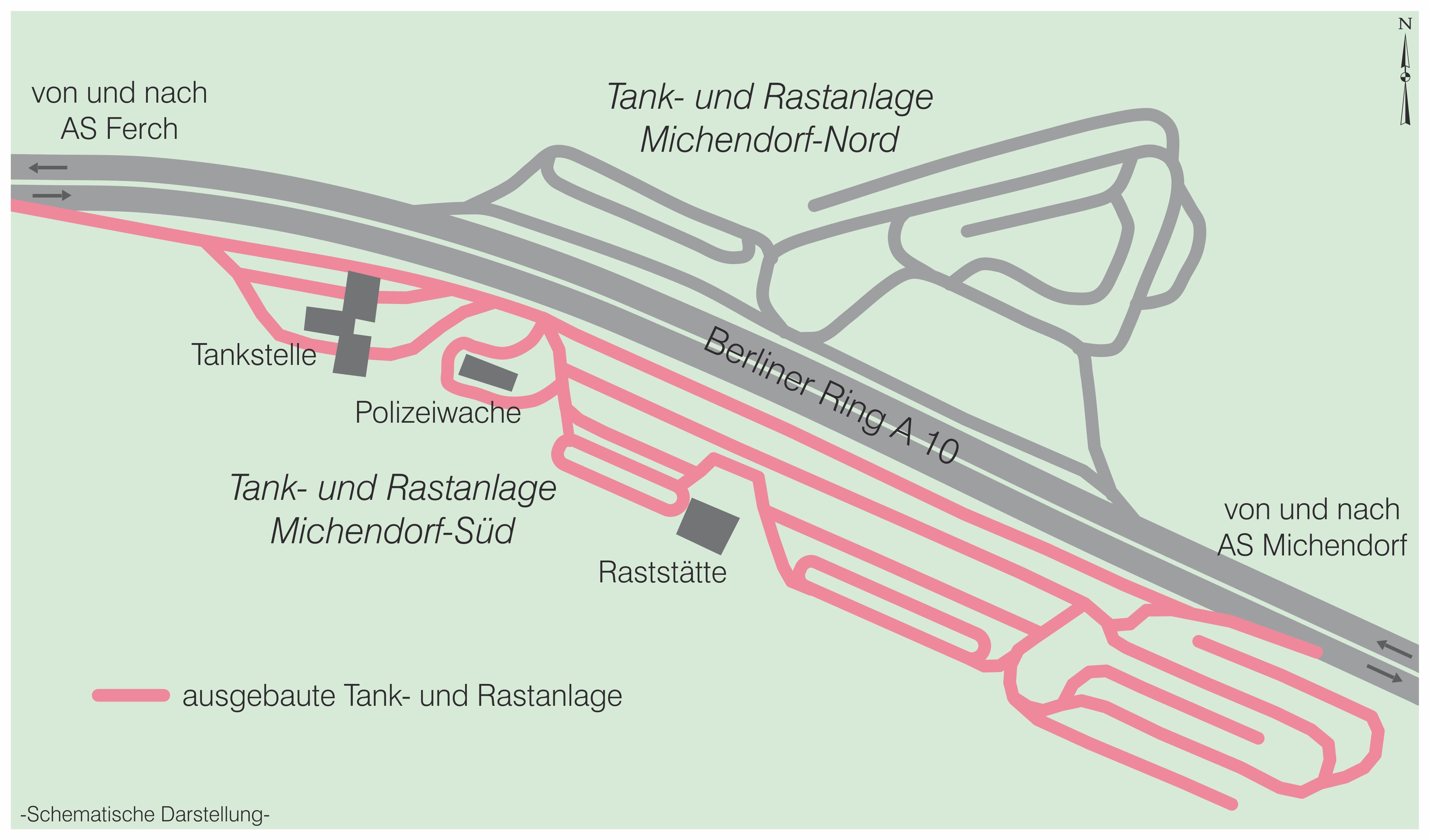 Tank und Rastanlage Michendort A 10 neu