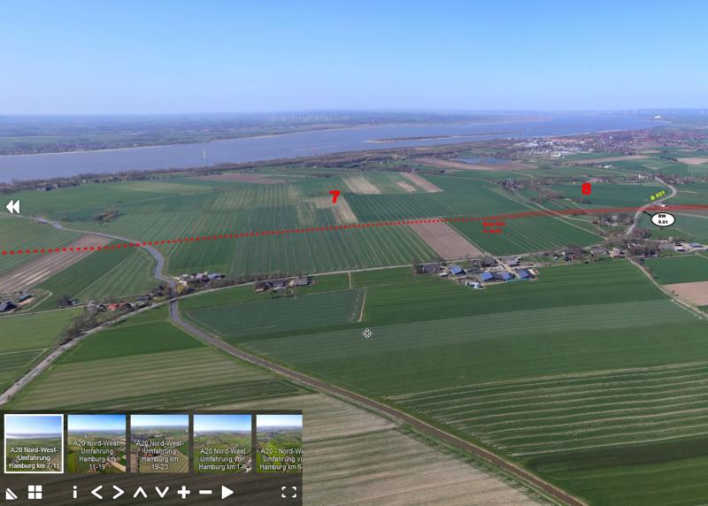 A 20 Luftbildaufnahme mit Trassenverlauf