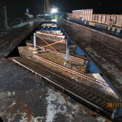A 114, Außenringbrücke: Der Überbau vor dem Beginn der Arbeiten