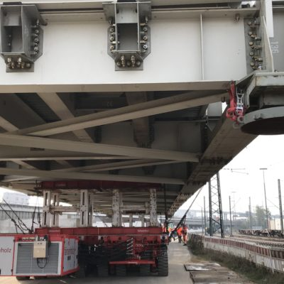 Hilfsbrücke für das Bauwerk K 30