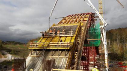 Talbrücke Lindenau Baufortschritt
