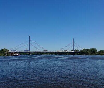 Die aktuelle Norderelbbrücke