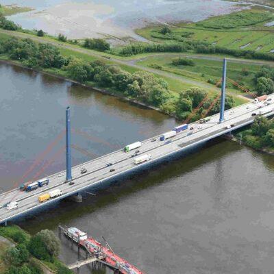 Die alte Norderelbbrücke