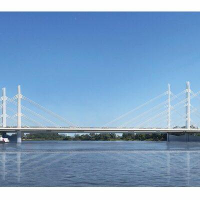 Siegerentwurf der geplanten Norderelbbrücke