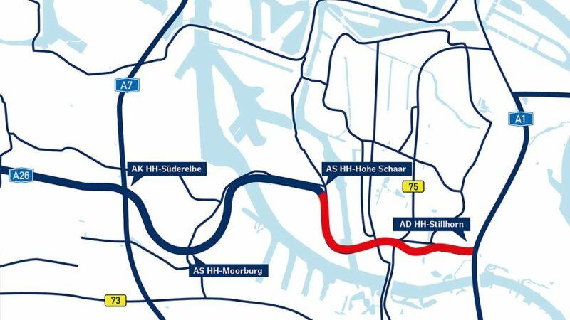 Verlauf Abschnitt Wilhelmsburg