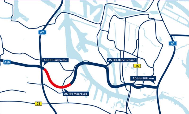 Abschnitt Moorburg Verlauf