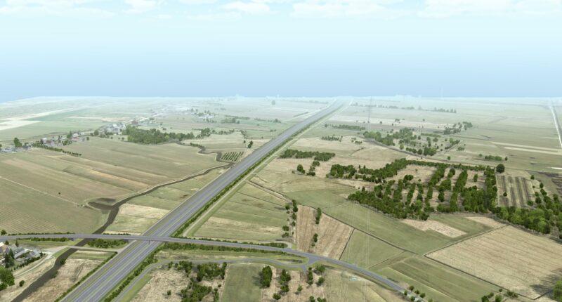 Luftaufnahme A 26 Blick Richtung Osten