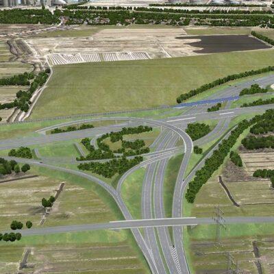 Visualisierung Autobahnkreuz HH-Süderelbe