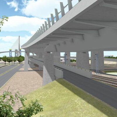 Visualisierung der Fußgänger- und Fahrradbrücke