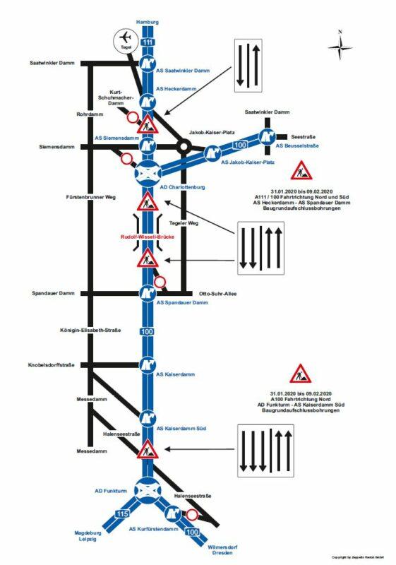 Darstellung der Verkehrseinschränkungen