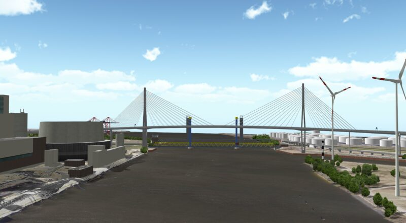 Hamburgs neues Wahrzeichen: die Süderelbbrücke