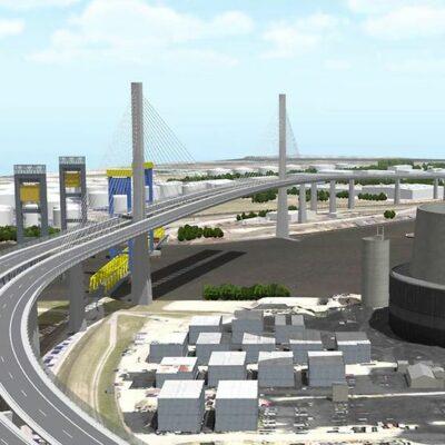 Impressionen der neuen Süderelbbrücke