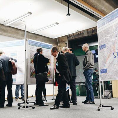 Themenwerkstatt zum Umbau des AD Funkturm / Tag 1 / Diskussion an der Themeninseln Lärmschutz und Luftschadstoffe