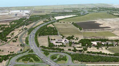 Visualisierung der Anschlussstelle Moorburg