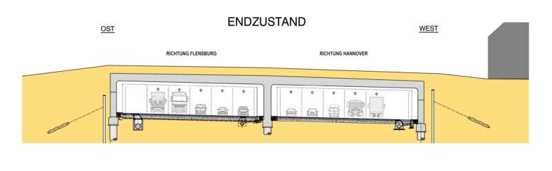 Funktionsskizze Tunnelbauwerk