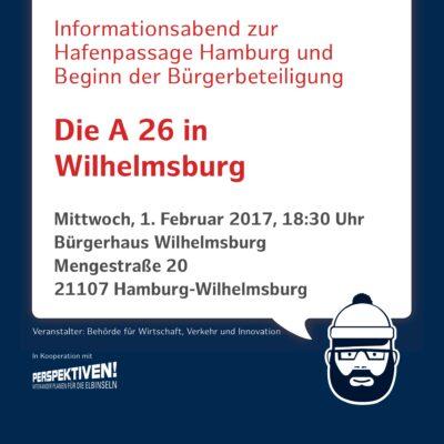 Einladung zum Informationsabend A 26 Hafenpassage Hamburg am 01.02.2017