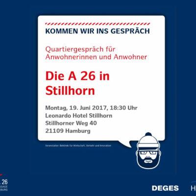 Einladung zum Informationsabend A 26 Hafenpassage Hamburg am 19.06.2017