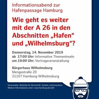Einladung zum Informationsabend A 26 Hafenpassage Hamburg am 14.11.2019