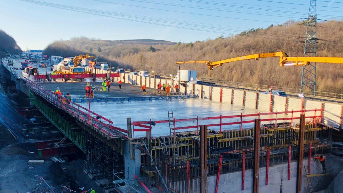 Arbeiten an der Talbrücke Volmarstein | März 2020