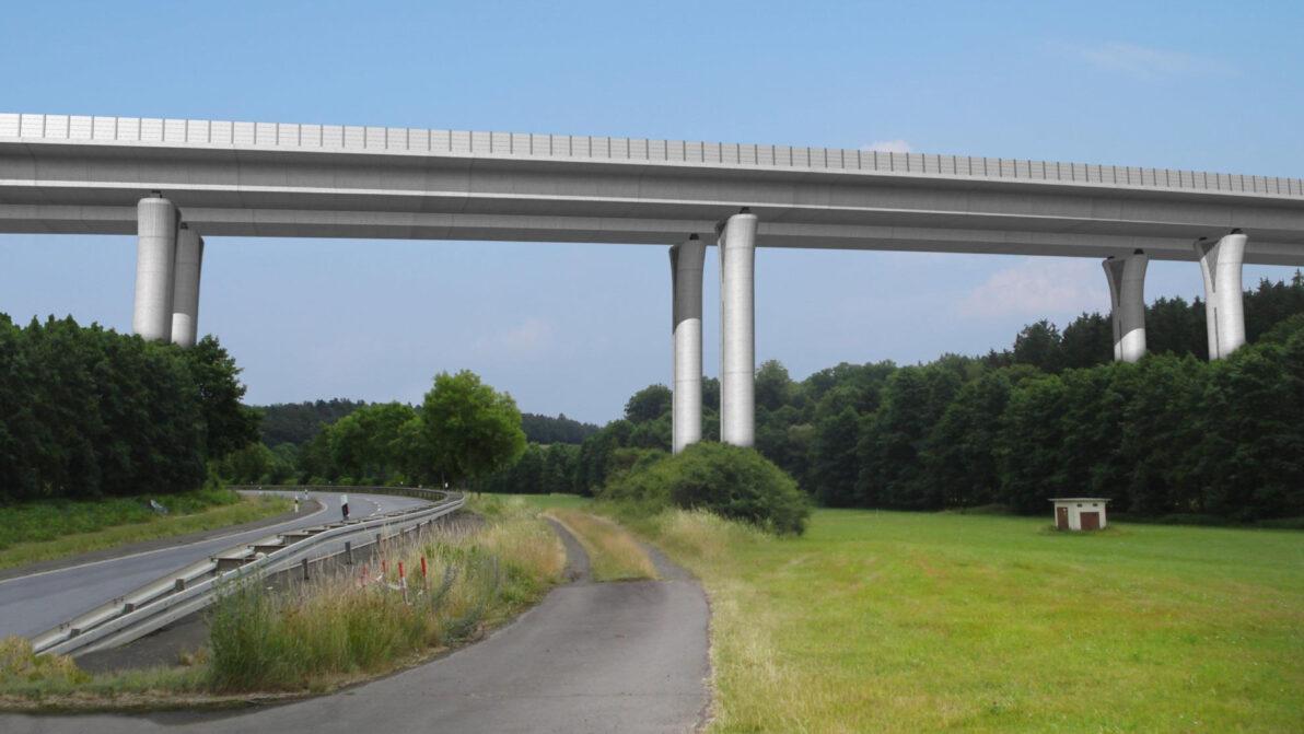 Visualisierung Talbrücke B 62 & Gleen