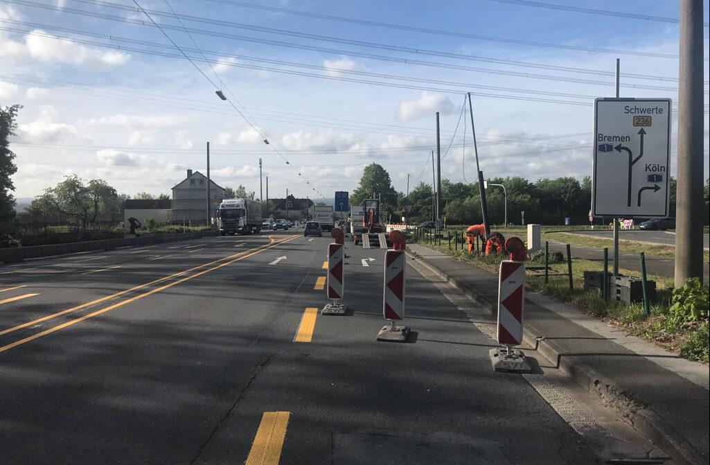 Verkehrseinschränkungen an der B 236