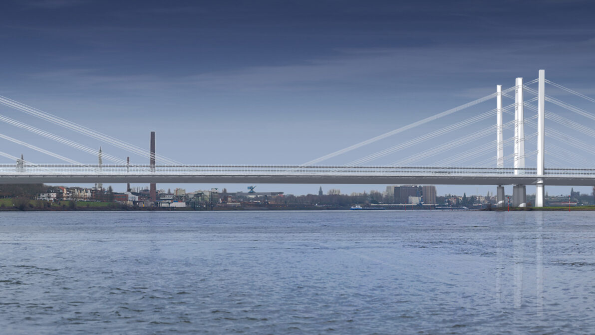 Visualisierung der neuen Rheinbrücke Neuenkamp