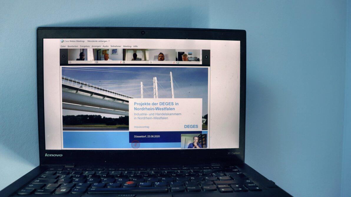 Virtuelles Treffen der DEGES mit den verkehrspolitischen Sprechern der nordrhein-westfälischen Industrie- und Handelskammern