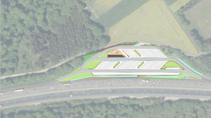 Luftbild PWC-Anlage Markwald