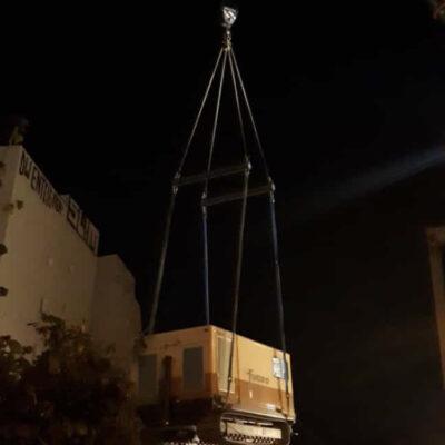 Einhub von Geräten am AD Funkturm im September 2020