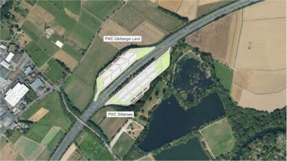 Luftbild und Planung des Ausbaus der PWC-Anlagen GLeiberger Land und Silbersee