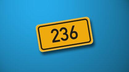 Verkehrshinweis zur B 236