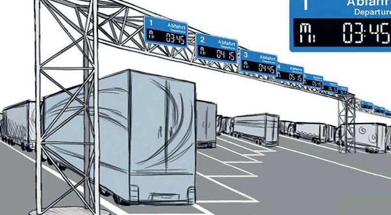 Telematisch gesteuertes Parken für Lkw