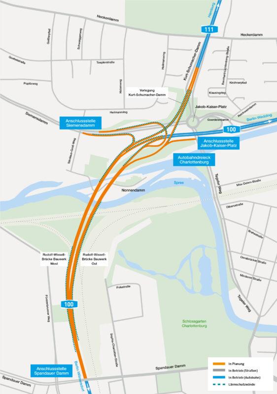 Karte Rudolf-Wissell-Brücke