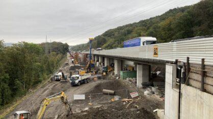 Bilder der Brücke Volmarstein Oktober 2020