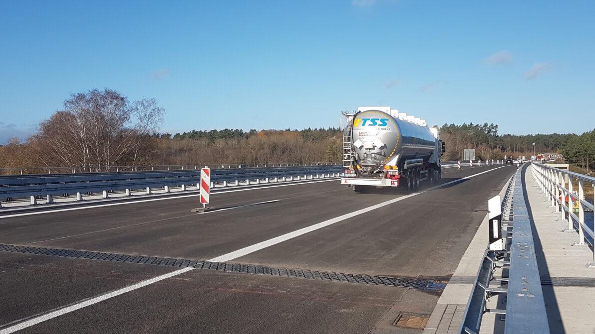 Die Petersdorfer Brücke am 19. November 2020