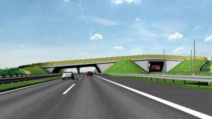 Grünbrücke über die A 14 und die Bahnstrecke – Visualisierung