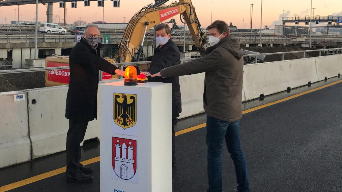 Baubeginn südlich des Hamburger Elbtunnels