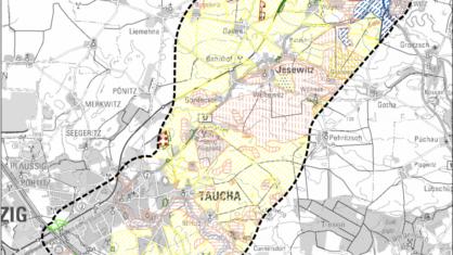 Landkarte mit dem Untersuchungsraum der B 87n