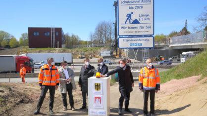 Baubeginn für den Lärmschutztunnel Altona