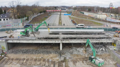 Erste Arbeiten für den Tunnel Altona