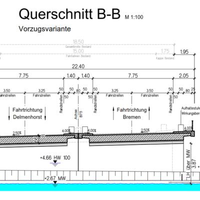 Varreler Bäke - Ansicht von Süden geplanter Neubau