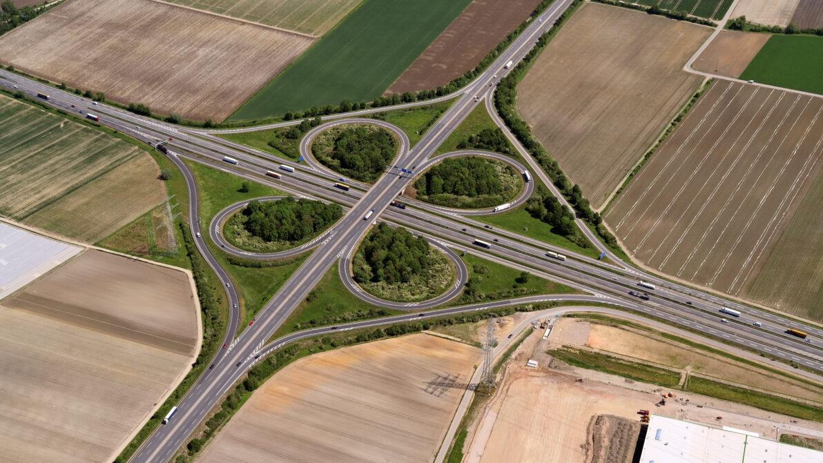 Autobahnkreuz Mutterstadt   Bildnachweis: Hajo Dietz