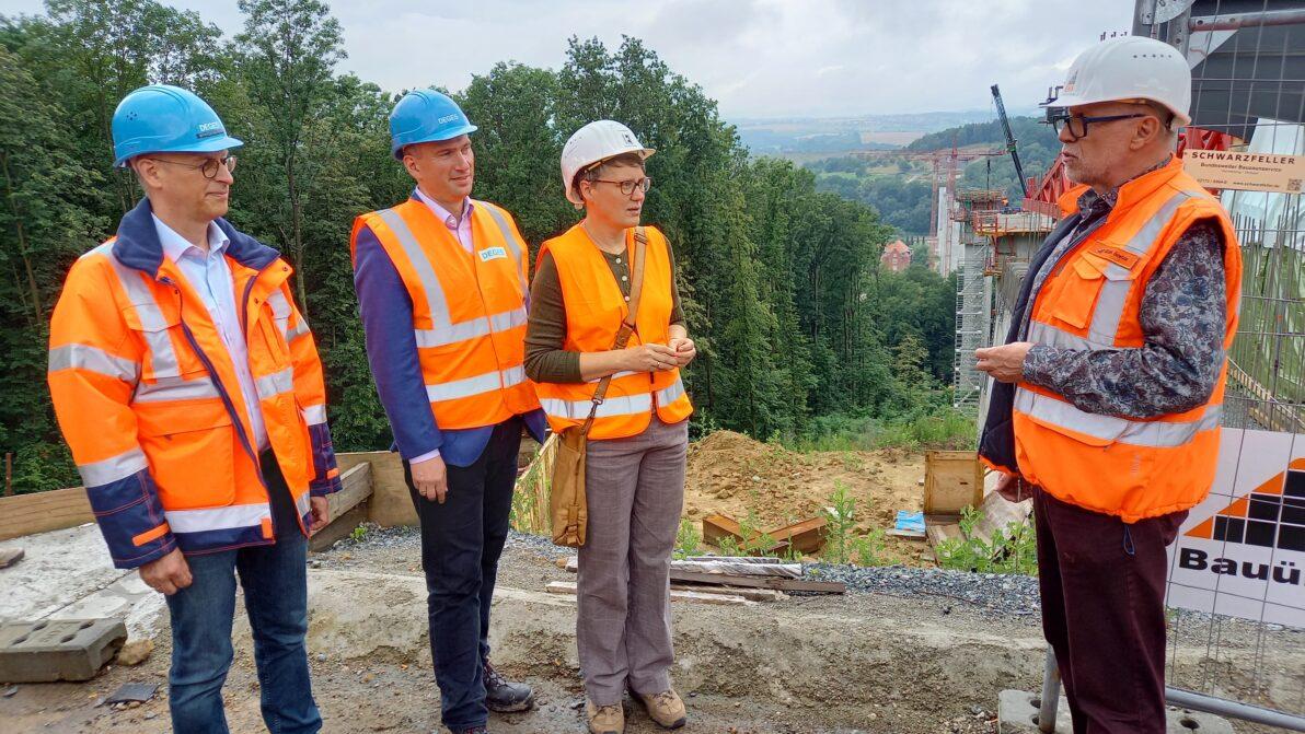 OU Pirna: Minister Dulig besucht Baustelle